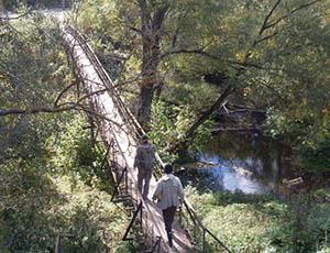 железный мостик через Осетр