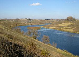 озеро и мост трассы М4
